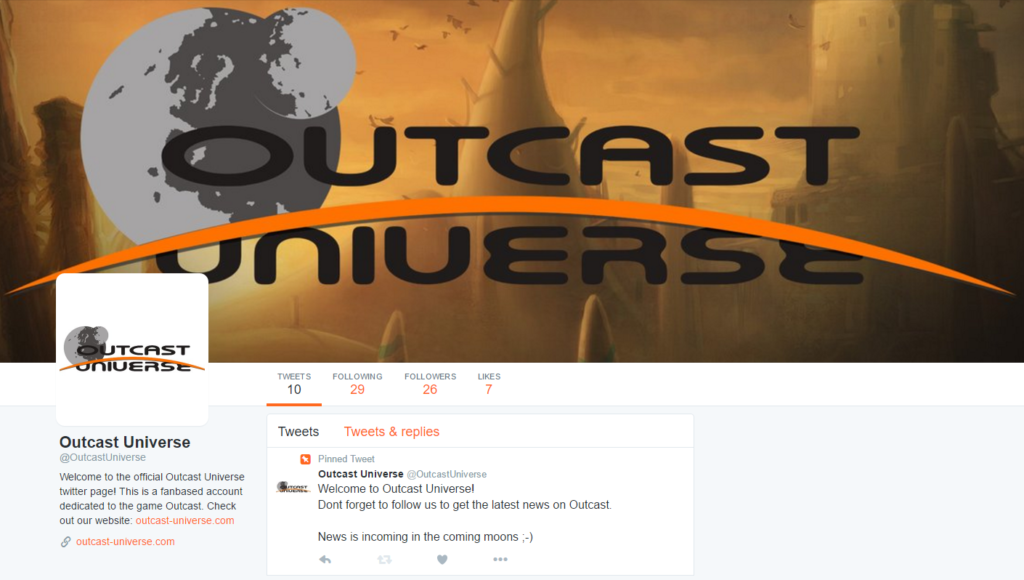 OutcastUniverse Twitter